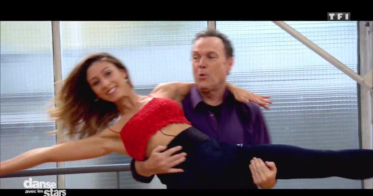 Danse avec les stars  : Julien Lepers et Silvia Notargiacomo en répétitions  - TF1