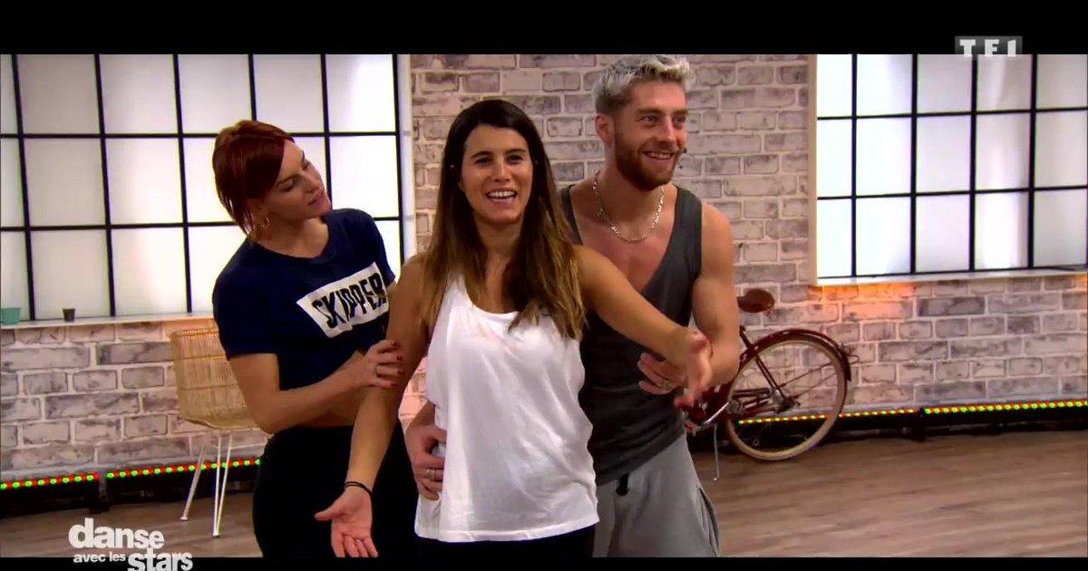 Danse avec les stars  : Karine Ferri et Yann-Alrick Mortreuil  en répétitions  - TF1