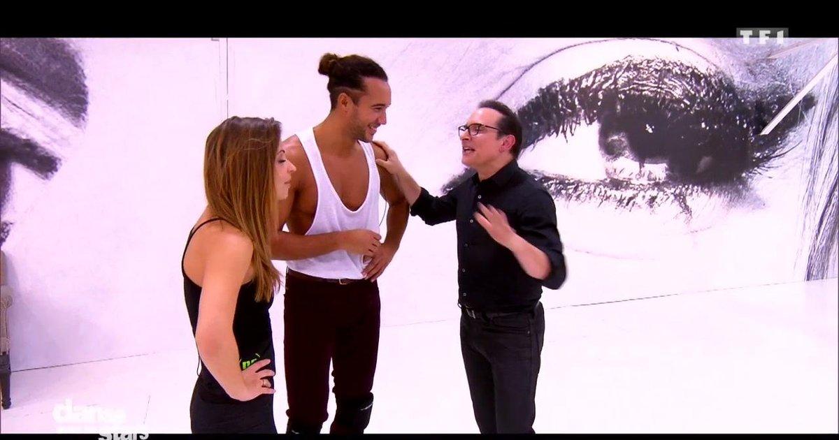Danse avec les stars  : Laurent Maistret et Denitsa Ikonomova en répétitions, coaché par Jean-Marc Généreux  - TF1
