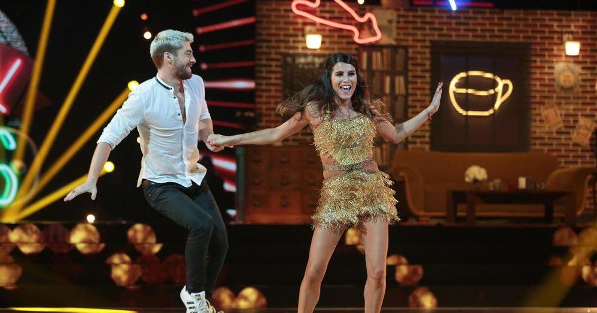 """Danse avec les stars  : Un jive pour Karine Ferri et Yann-Alrick Mortreuil sur « I'll Be There For You"""" (The Rembrandts)  - TF1"""
