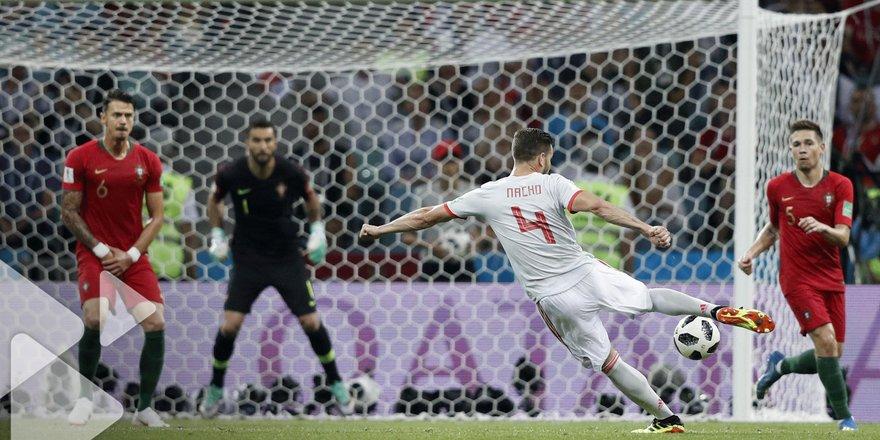 Portugal Espagne   Revoir Le But De Nacho En Video Une Volee Splendide Coupe Du Monde De La Fifa Russie  Tf