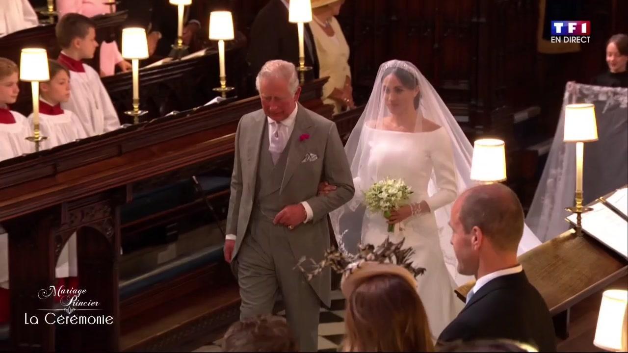 Mariage du Prince Harry et de Meghan Markle  la future mariée accompagnée  par le Prince Charles , Le mariage du Prince Harry et Meghan Markle , TF1