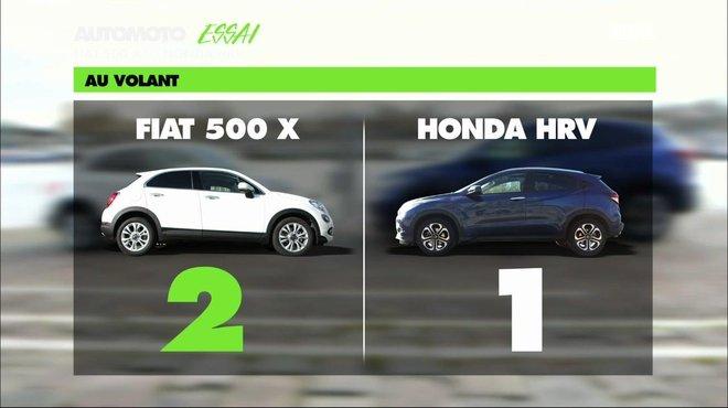 Essai Video Honda HR V Contre Fiat 500X Duel De SUVs Citadins