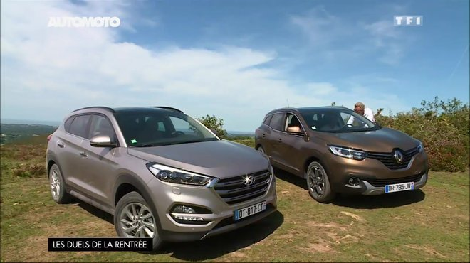 essai vid o hyundai tucson vs renault kadjar quel crossover est le plus efficace 2 2. Black Bedroom Furniture Sets. Home Design Ideas