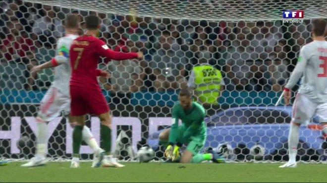 Portugal Espagne   Revoir Le E But De Cristiano Ronaldo En Video Sur Une Boulette De De Gea Coupe Du Monde De La Fifa Russie  Tf