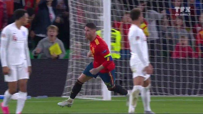 Espagne Angleterre 2 3 Voir Le But De Sergio Ramos En Video