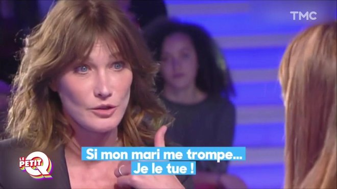 le petit q carla bruni si mon mari me trompe je le tue quotidien avec yann barth s tmc. Black Bedroom Furniture Sets. Home Design Ideas