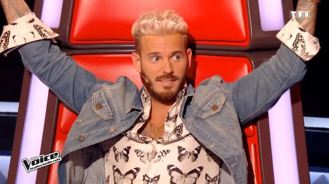 the voice m pokora son changement de look radical tf1. Black Bedroom Furniture Sets. Home Design Ideas